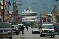 Cruise Ship in Skagway Alaska